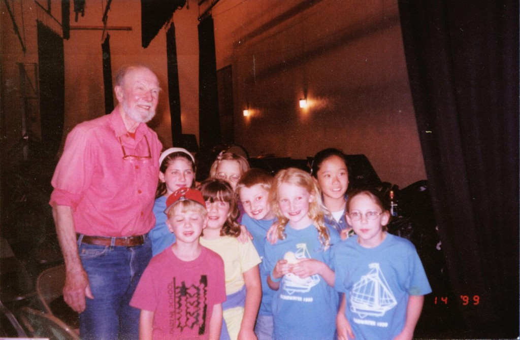 Pete Seeger Chris Berkley New Paltz Middle School 1999