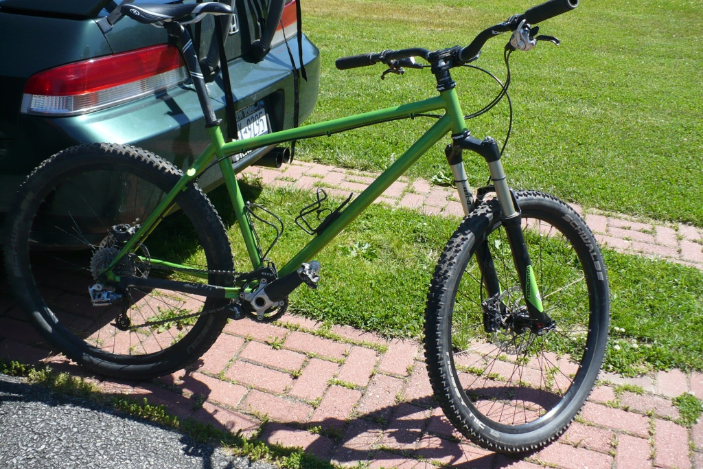 Granny Smith Green On One Inbred with new vinyl fork decals applied