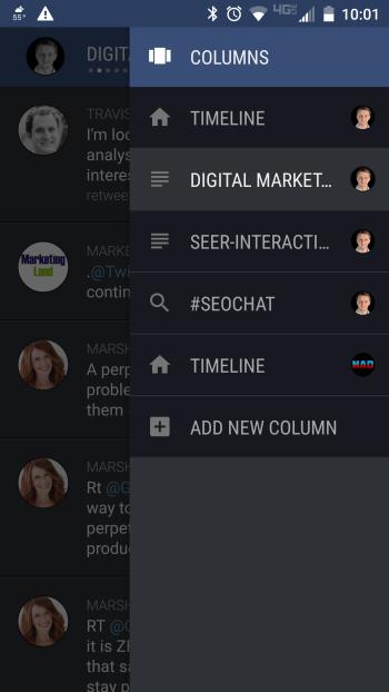 falcon pro 3 app column shortcuts