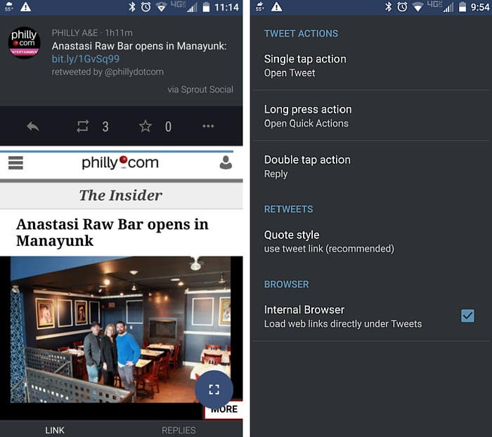 falcon pro 3 link preview browser