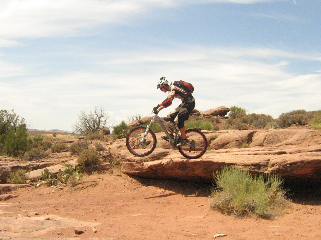 John Elliott Dropping the Porcupine Rim rocks Moab Utah 2