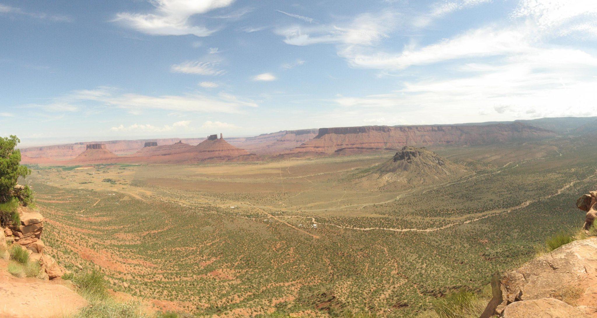 Moab Utah Porcupine Rim Singletrack Panorama