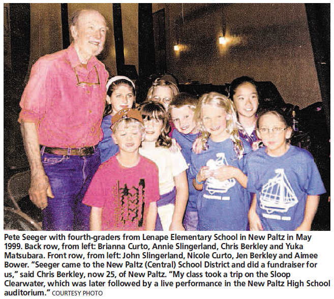 Pete Seeger Poughkeepsie Journal Article