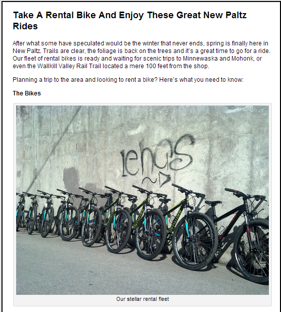 Minnewaska Bike Rentals