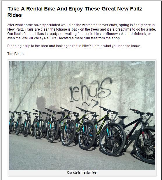 Minnewaska Bike Rentals