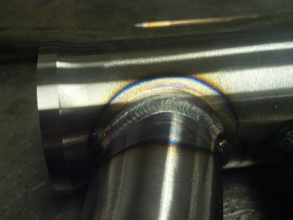 44mm steel head tube weld