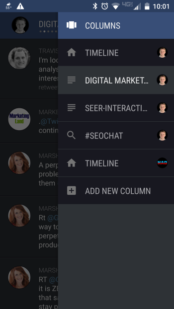 falcon pro 3 app column shortcuts