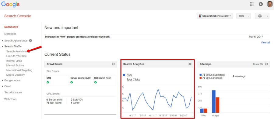 Let S Dig In A Little Bit And Look At Some Of The Ways That We Can Click Through Rate Clicks Impressions Search Console