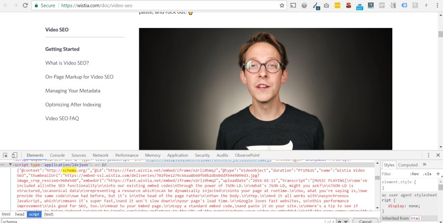 Finding Pages With Embedded Wistia Videos | ChrisBerkley com