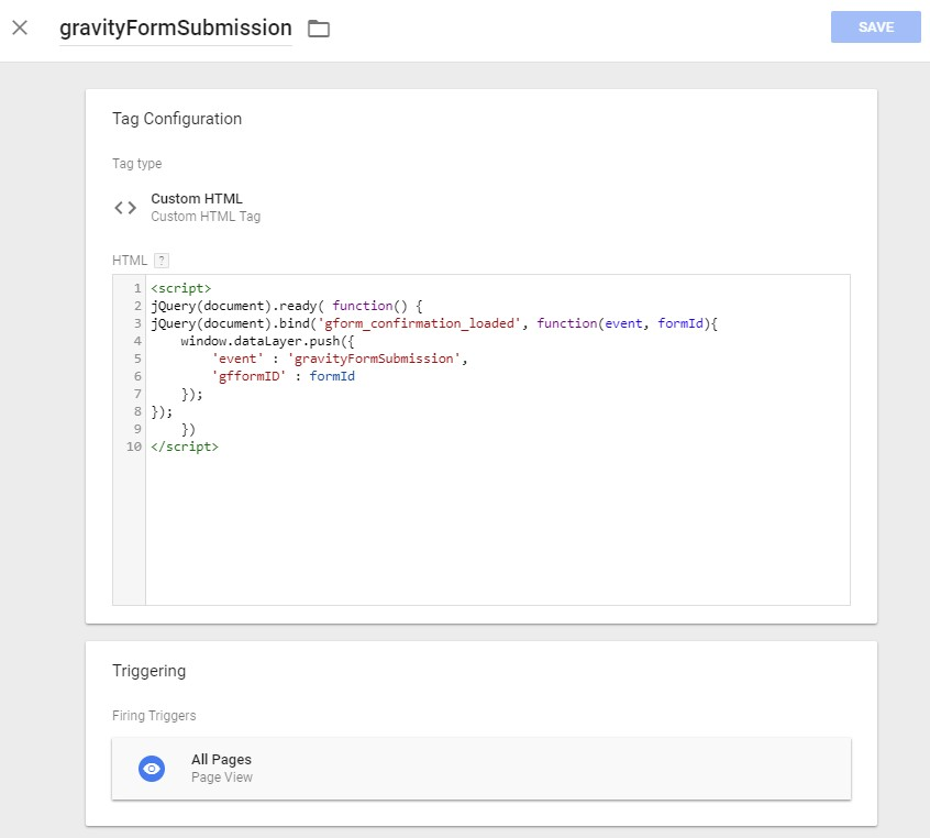 how to add submit form javascript gravity forms